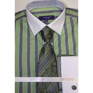 Statement Green Shirt, Tie and Hankie Set|https://ak1.ostkcdn.com/images/products/11775306/P18687381.jpg?impolicy=medium
