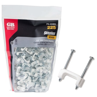 "GB Gardner Bender PS-225BG 1/2"" White Cable Staples 225-count"