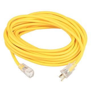 Coleman Cable 16890002 100' 12/3 Gauge Yellow Extension Cord