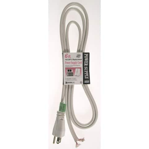Coleman Cable 09746 Three Conductor Beige SPT-3 Replacement Power Cord