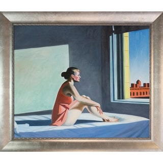 Edward Hopper 'Morning Sun, 1952' Hand Painted Framed Canvas Art