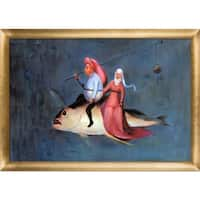 Bosch 'The Temptation of St Anthony' Hand Painted Framed Canvas Art