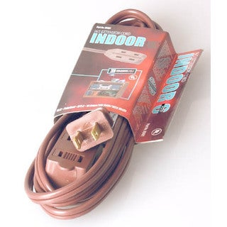 Coleman Cable 09404 15' 16/2 Brown Indoor Cube Tap Extension Cord