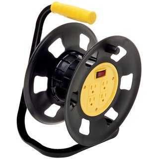 Coleman Cable E230 4-Outlet Retractable Extension Cord Reel