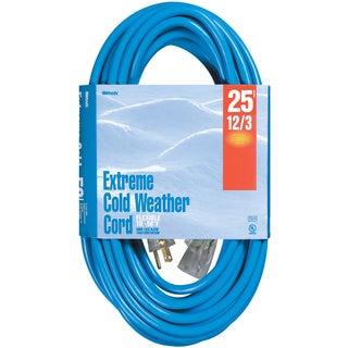 Woods 02437 25' 12/3 Gauge Blue Outdoor Extension Cord