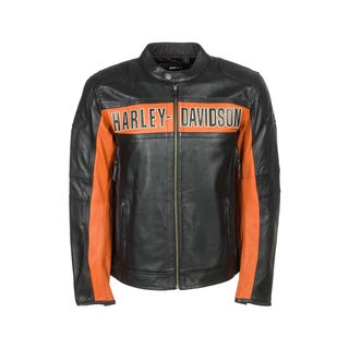 Harley-Davidson 98014-10VM Mens Colorblock Classic Leather Jacket
