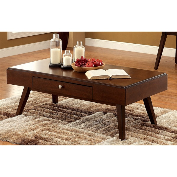 Shop Furniture Of America Baine Mid-century Brown Cherry