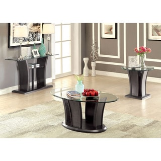 Furniture of America Pecs Contemporary Grey 3-piece Accent Table Set