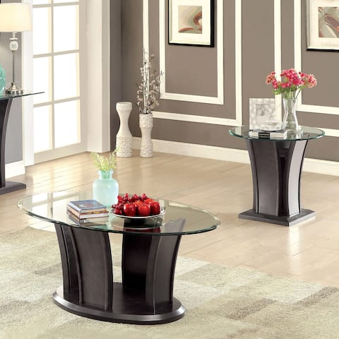 Furniture of America Pecs Contemporary Grey 2-piece Accent Table Set