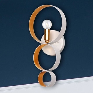 Crystorama Luna Collection 1-light Matte White Wall Sconce