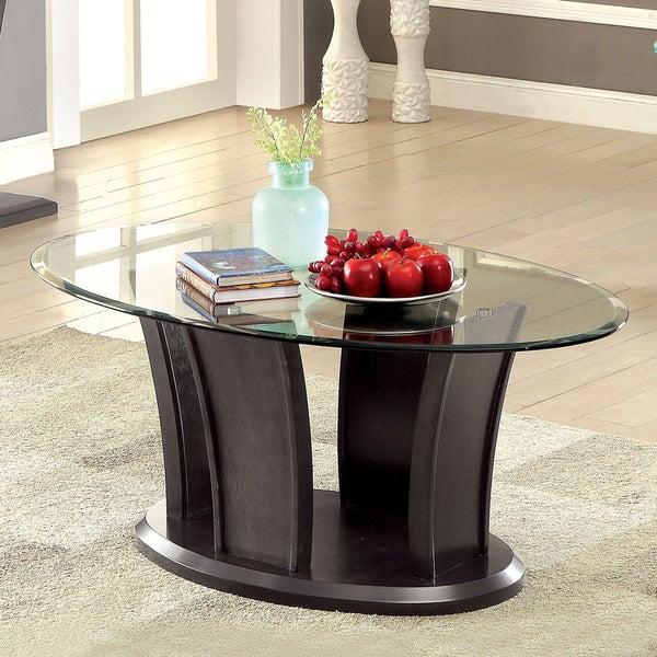 Shop Furniture Of America Adrian Grey Beveled Glass Top
