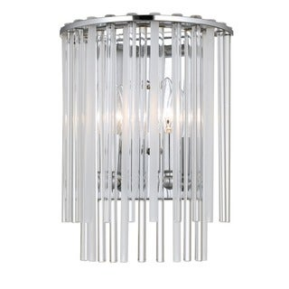 Crystorama Bleecker Collection 2-light Polished Chrome Wall Sconce