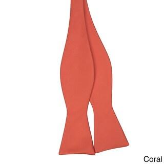 Jacob Alexander Men's Solid Color Self-tie Bowtie