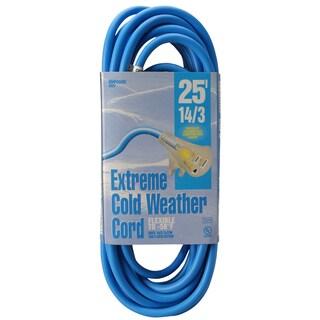 Woods 02627 25' 14/3 Gauge Blue Outdoor Extension Cord