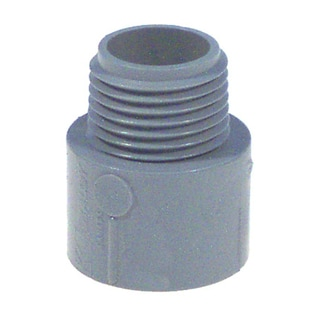 "Carlon Lamson & Sessons E943FR-CTN 1"" Non Metallic Male Terminal Adapter Slip To Thread"