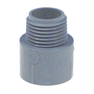 "Carlon Lamson & Sessons E943GR-CTN 1-1/4"" Non Metallic Male Terminal Adapter Slip To Thread"