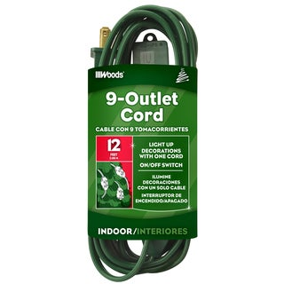 Woods 32189 12' 16/2 Green Holiday Tree Cord