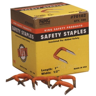 "King Safety Products 70102 1/2"" Orange Insulating Safety Staples 100-count"