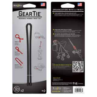 Nite Ize Gear Tie 12 in. L Black Twist Ties 2 pk|https://ak1.ostkcdn.com/images/products/11775776/P18687785.jpg?impolicy=medium