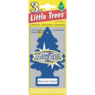 Car Freshener U3S-32089 3 Pack New Car Scent Little Tree Air Fresheners