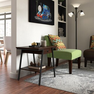 Porch & Den Park Slope Garfield End Table with Drawer and Lower Storage Shelf
