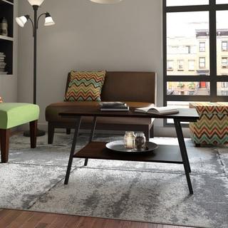 Porch & Den Saint Marks Coffee Table with Lower Storage Shelf