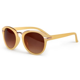 Journee Collection Women's Traditional Round Plastic Sunglasses