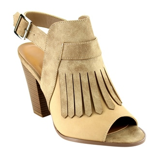 Beston Fringed Bootie Sandals