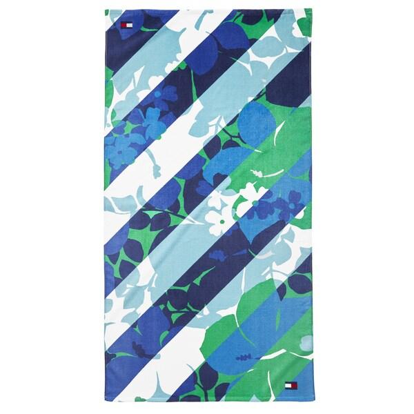 Tommy Hilfiger Hibiscus Stripe Beach Towel