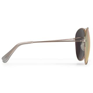 Journee Collection Unisex Aviator Metal Sunglasses