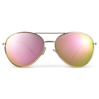 Journee Collection Unisex Aviator Metal Sunglasses