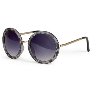 Journee Collection Women's Oversized Round Plastic Sunglasses
