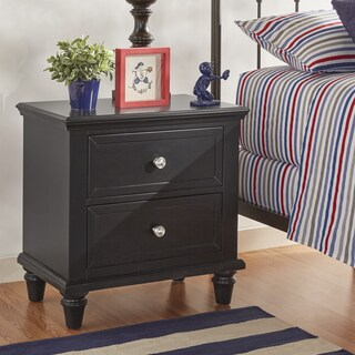 Preston 2-drawer Side Table Nightstand by iNSPIRE Q Junior (Option: Charcoal Black Finish)