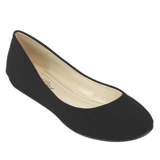 Beston IB38 Women's Classic Slip On Mini Wedge Flats