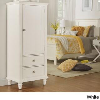 Preston Wooden Wardrobe Storage Armoire by iNSPIRE Q Junior (Option: White Finish)