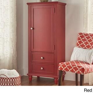 Preston Wooden Wardrobe Storage Armoire by iNSPIRE Q Junior (Option: Red Finish)