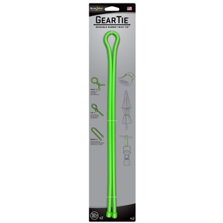 "Nite Ize GT32-2PK-17 32"" Lime Green Gear Tie 2-count"