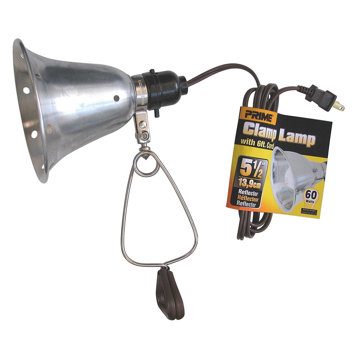 "Prime CL060506B 6' 18/2 SPT-2 60W 5.5"" Brown Clamp Lamp (..."