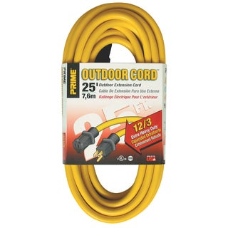 Prime EC500825 25' 12/3 SJTW Yellow Extension Cord