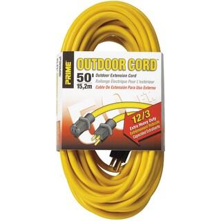 Prime EC500830 50' 12/3 SJTW Yellow Extension Cord