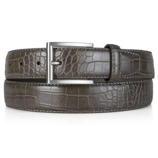 Vance Co. Men's Genuine Leather Croc Print Belt|https://ak1.ostkcdn.com/images/products/11776070/P18687993.jpg?impolicy=medium