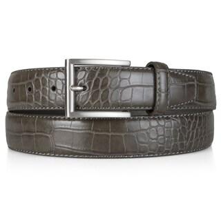 Vance Co. Men's Genuine Leather Croc Print Belt