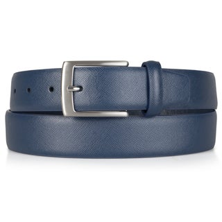 Vance Co. Men's Genuine Leather Textured Belt