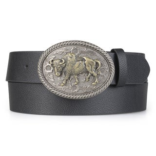 Vance Co. Men's Buffalo Interchageable Buckle Belt
