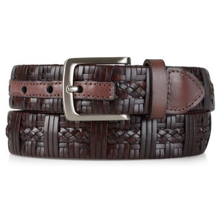 Tommy Bahama Men's Genuine Leather Braided Belt