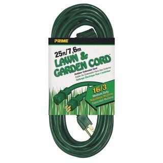 Prime EC880625 25' 16/3 SJTW Green Extension Cord