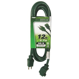 Prime EC880612 12' 16/3 SJTW Green Extension Cord