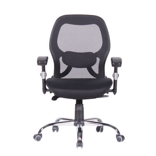 Executive Ergnomic Office Chair - Mesh, Padded H, Aarms, SM, Black