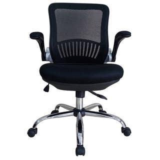 Comfortable Executive Office Chair - Mesh, Flip-up nylon Arms, DoubleM, Black https://ak1.ostkcdn.com/images/products/11776183/P18688135.jpg?impolicy=medium