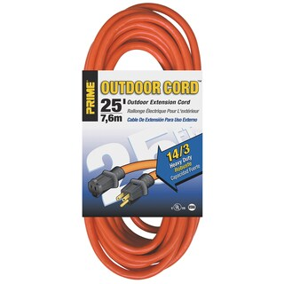 Prime EC501725 25' 14/3 SJTW Orange Extension Cord